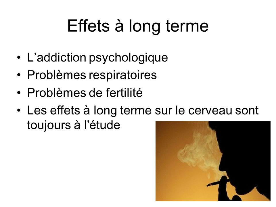 Effets à long terme L'addiction psychologique Problèmes respiratoires