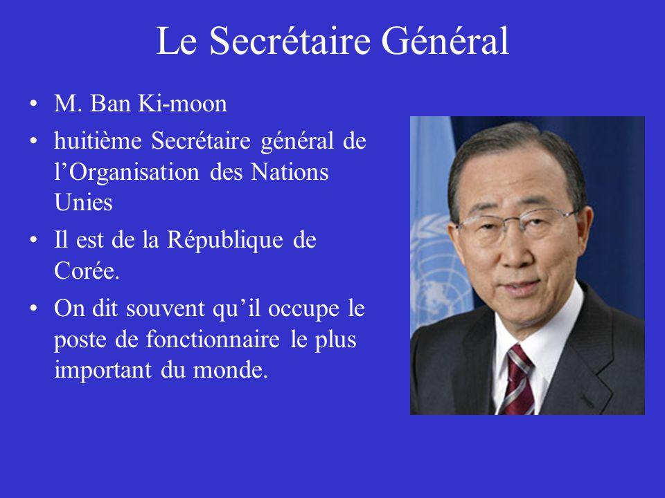 Le Secrétaire Général M. Ban Ki-moon
