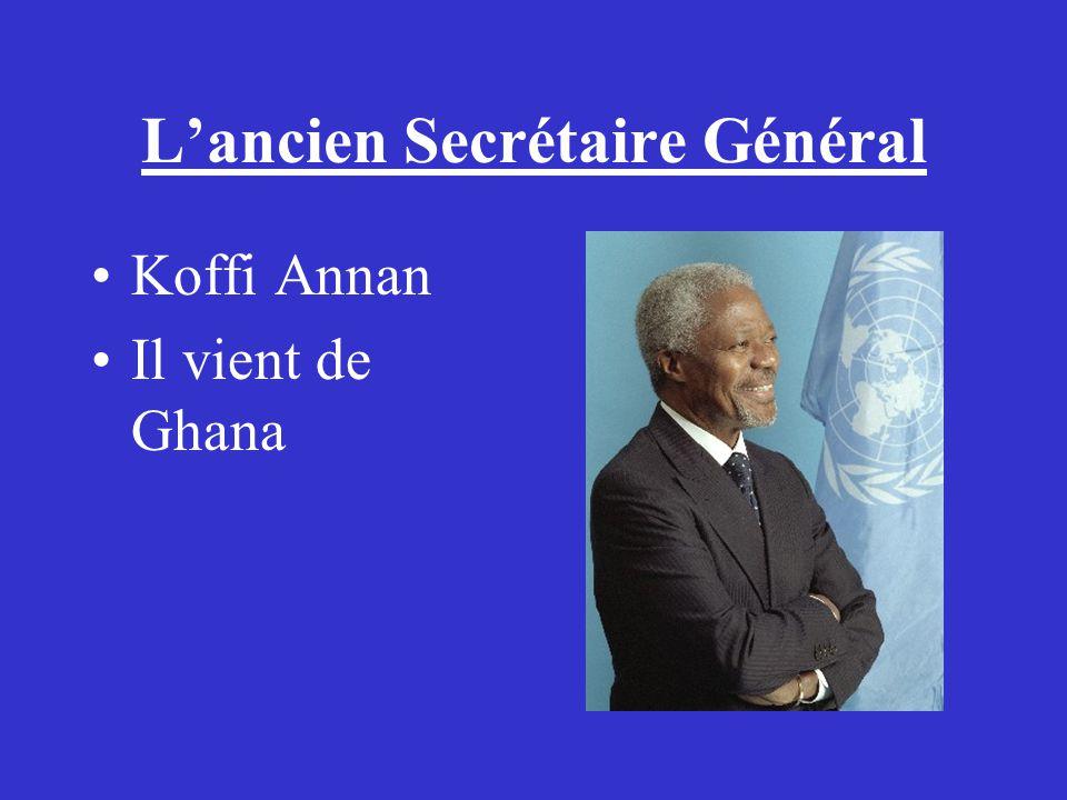 L'ancien Secrétaire Général