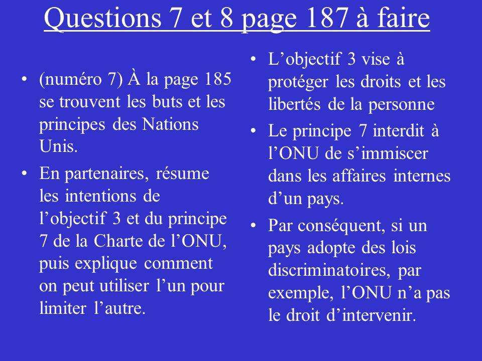 Questions 7 et 8 page 187 à faire