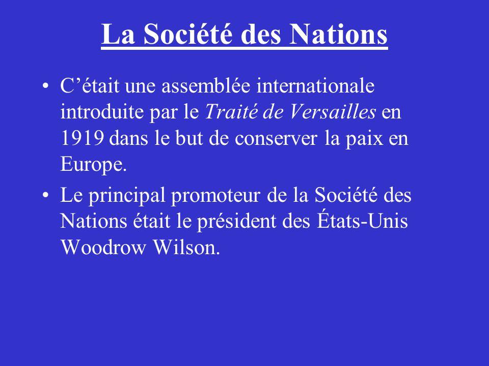La Société des Nations