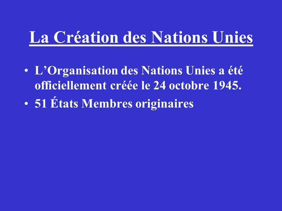 La Création des Nations Unies