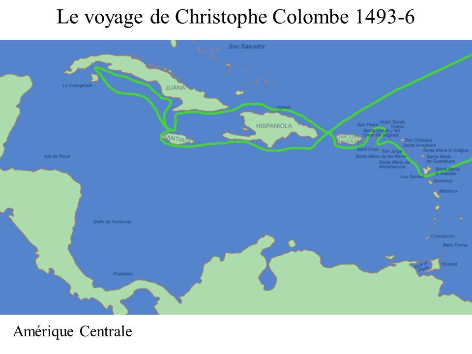Le voyage de Christophe Colombe 1493-6