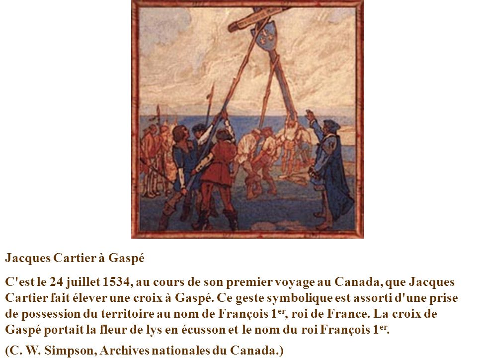 Jacques Cartier à Gaspé