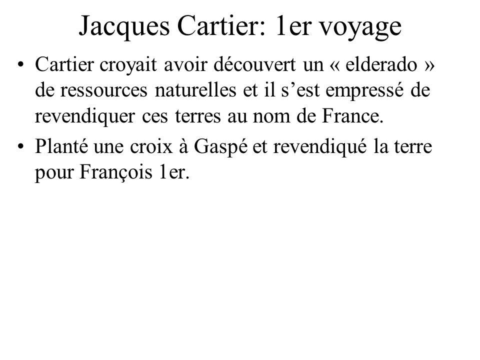 Jacques Cartier: 1er voyage