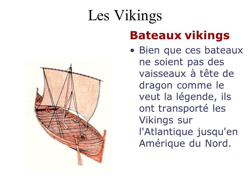 Les Vikings Bateaux vikings