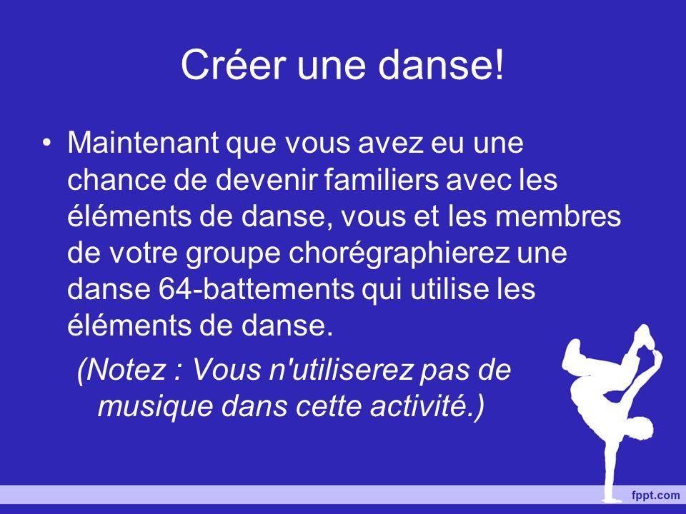 Créer une danse!