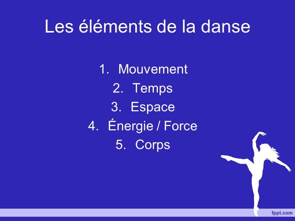 Les éléments de la danse