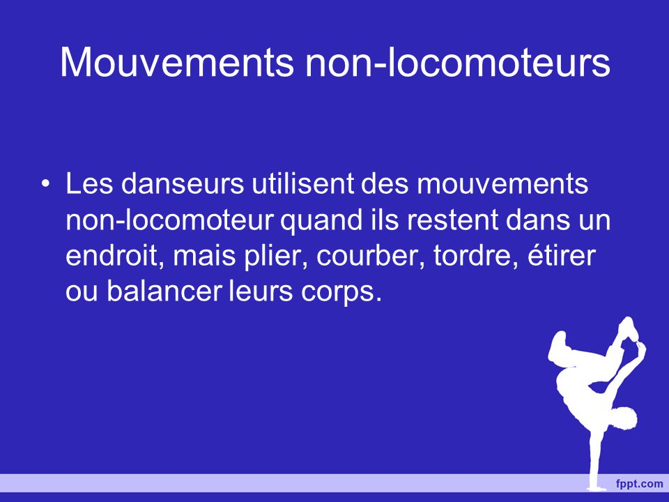 Mouvements non-locomoteurs