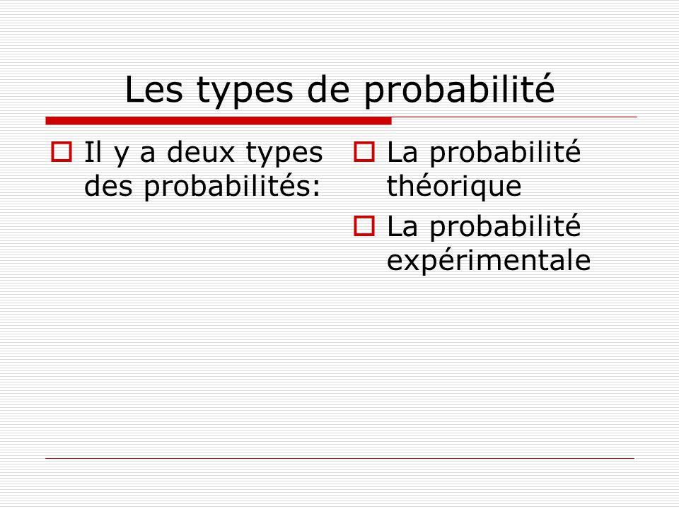 Les types de probabilité