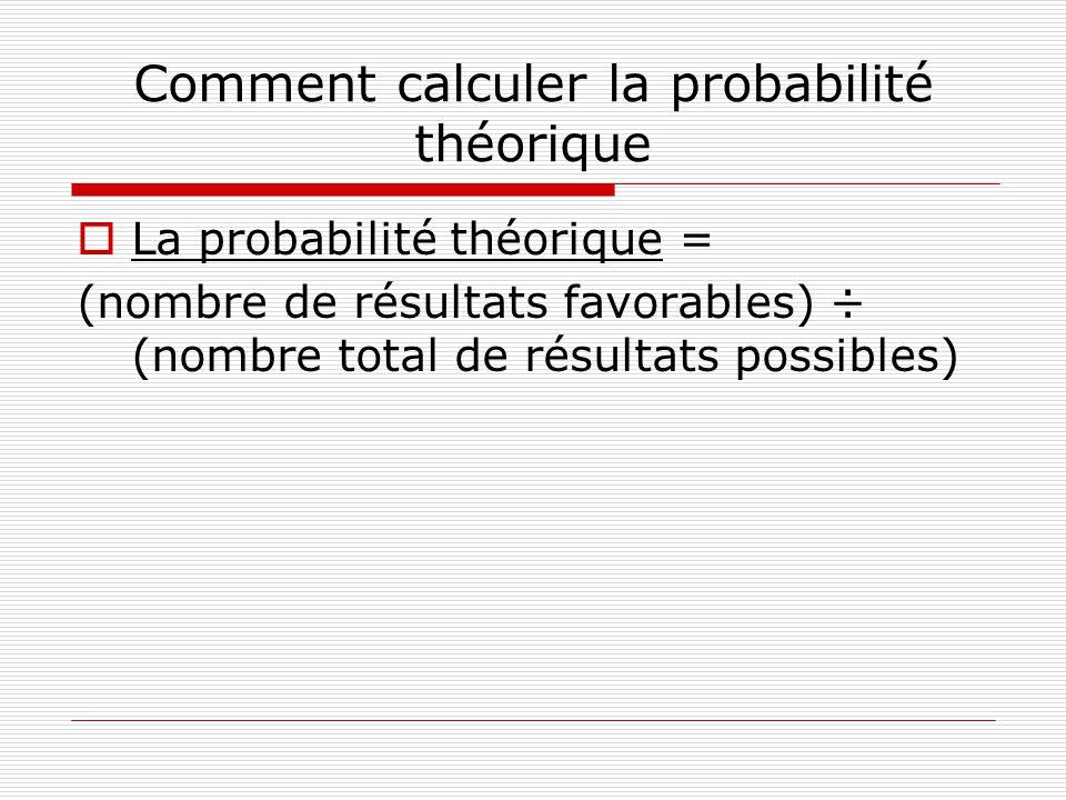 Comment calculer la probabilité théorique