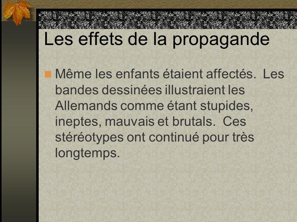 Les effets de la propagande