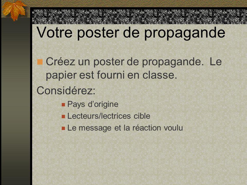 Votre poster de propagande