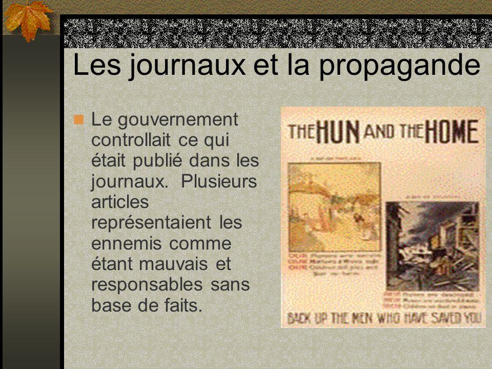 Les journaux et la propagande
