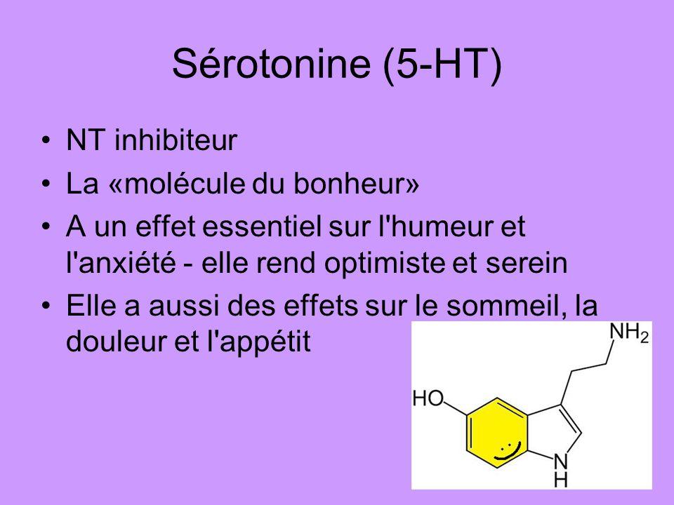 Sérotonine (5-HT) NT inhibiteur La «molécule du bonheur»