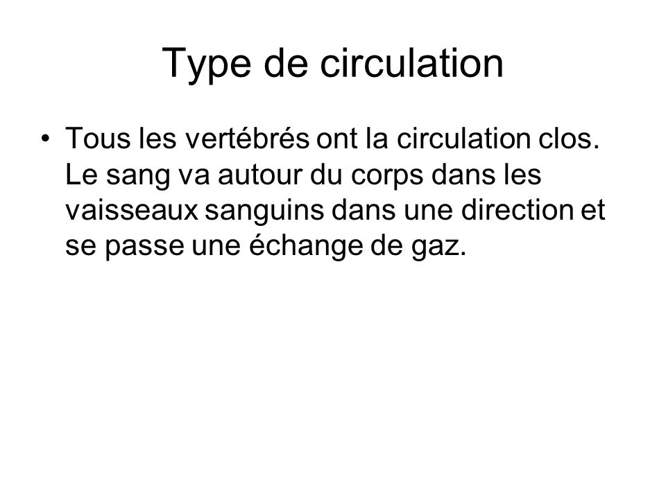 Type de circulation