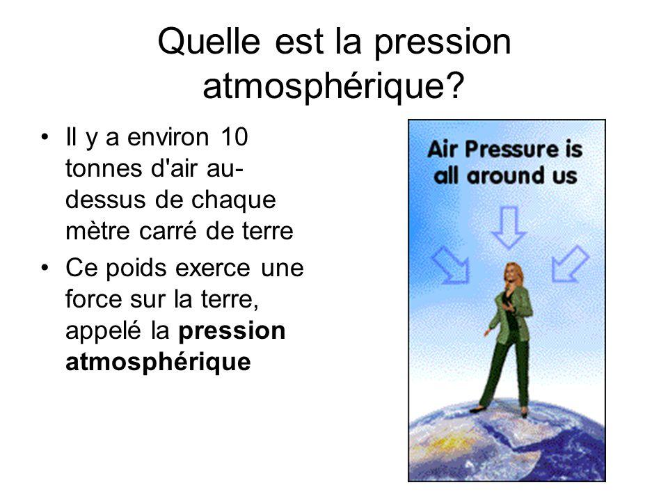 Quelle est la pression atmosphérique