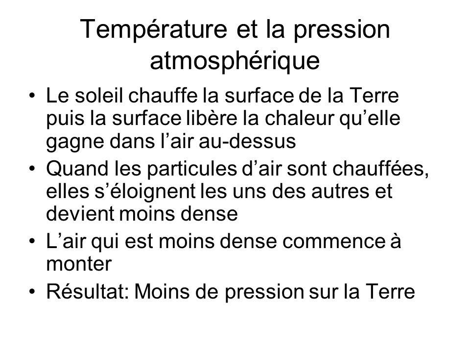 Température et la pression atmosphérique