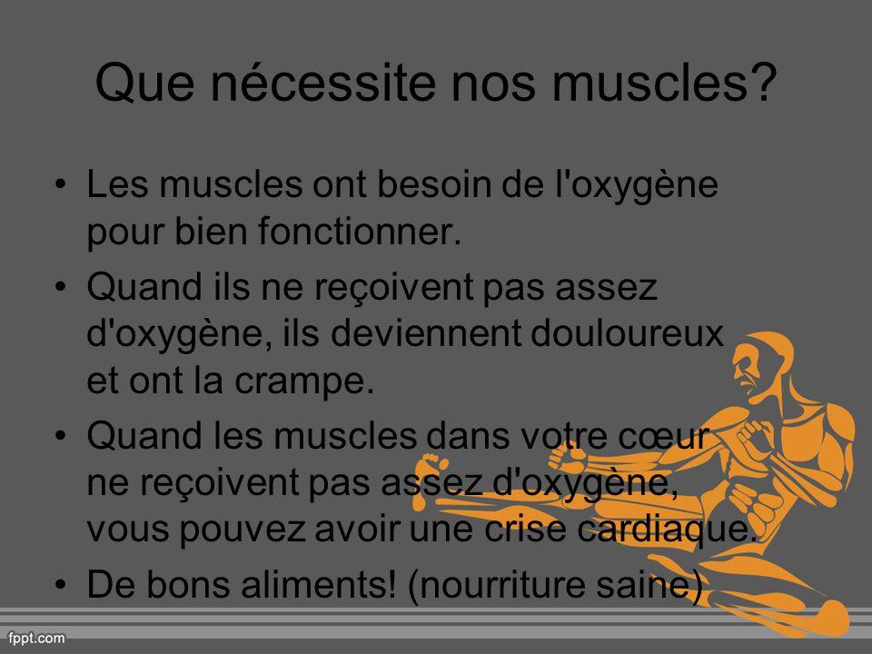 Que nécessite nos muscles