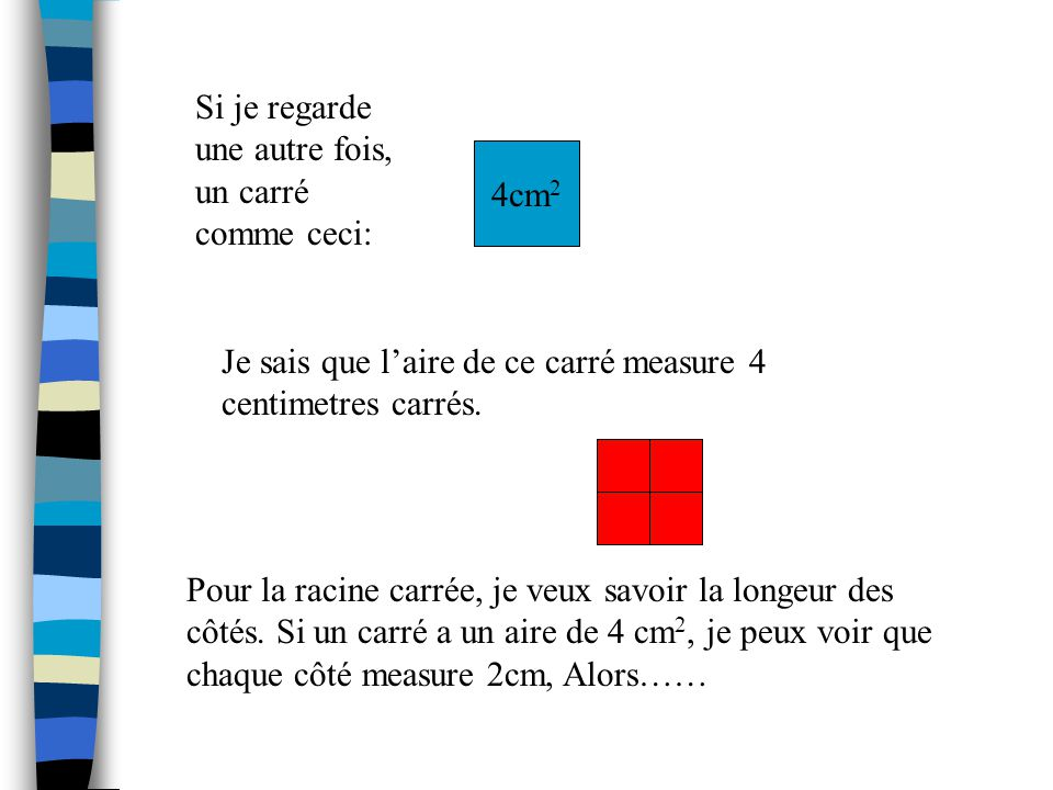 Si je regarde une autre fois, un carré comme ceci: