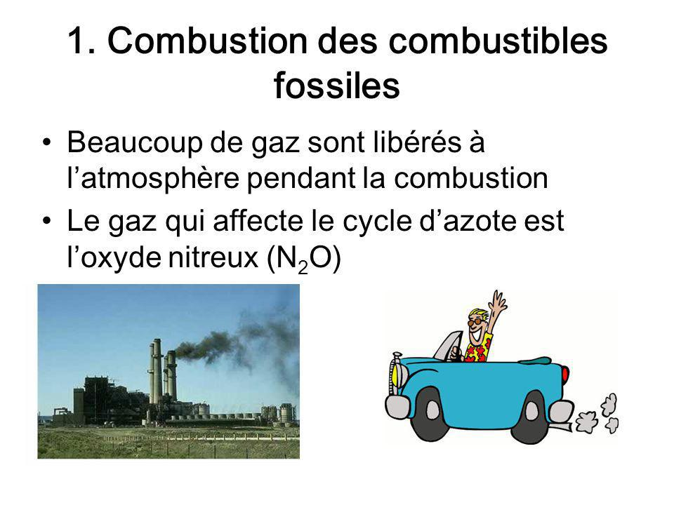 1. Combustion des combustibles fossiles