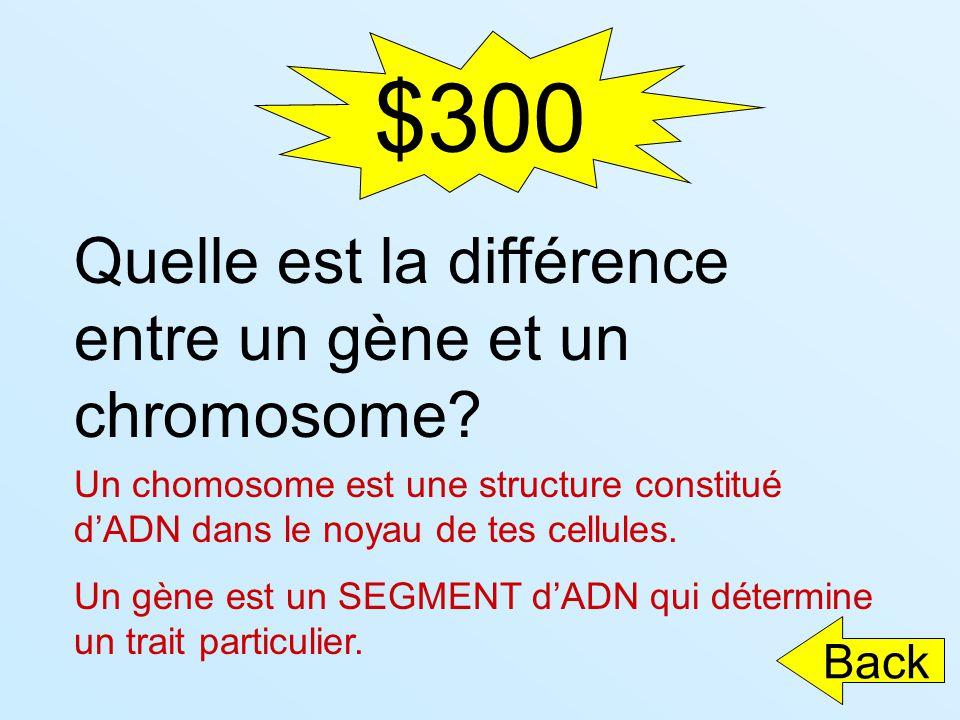 $300 Quelle est la différence entre un gène et un chromosome Back