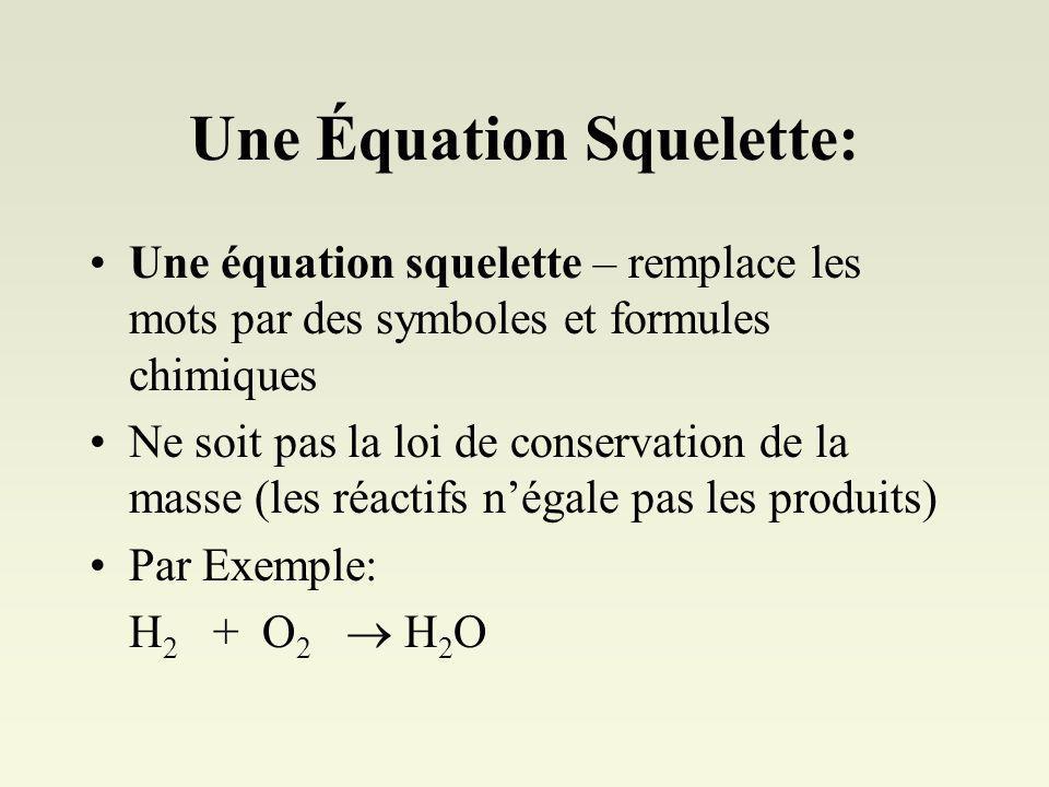 Une Équation Squelette: