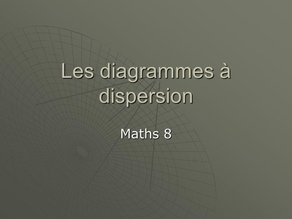 Les diagrammes à dispersion