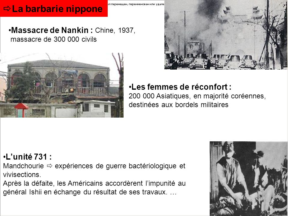 La barbarie nippone Massacre de Nankin : Chine, 1937,