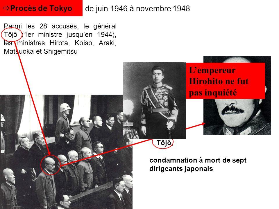 L'empereur Hirohito ne fut pas inquiété