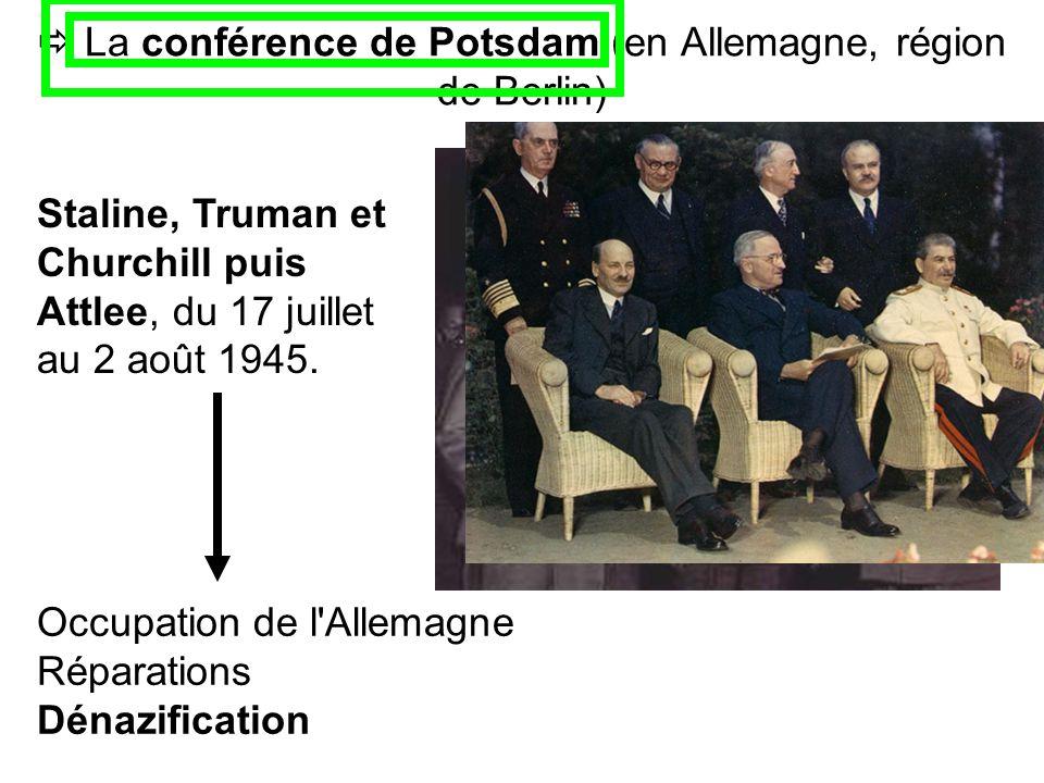  La conférence de Potsdam (en Allemagne, région de Berlin)