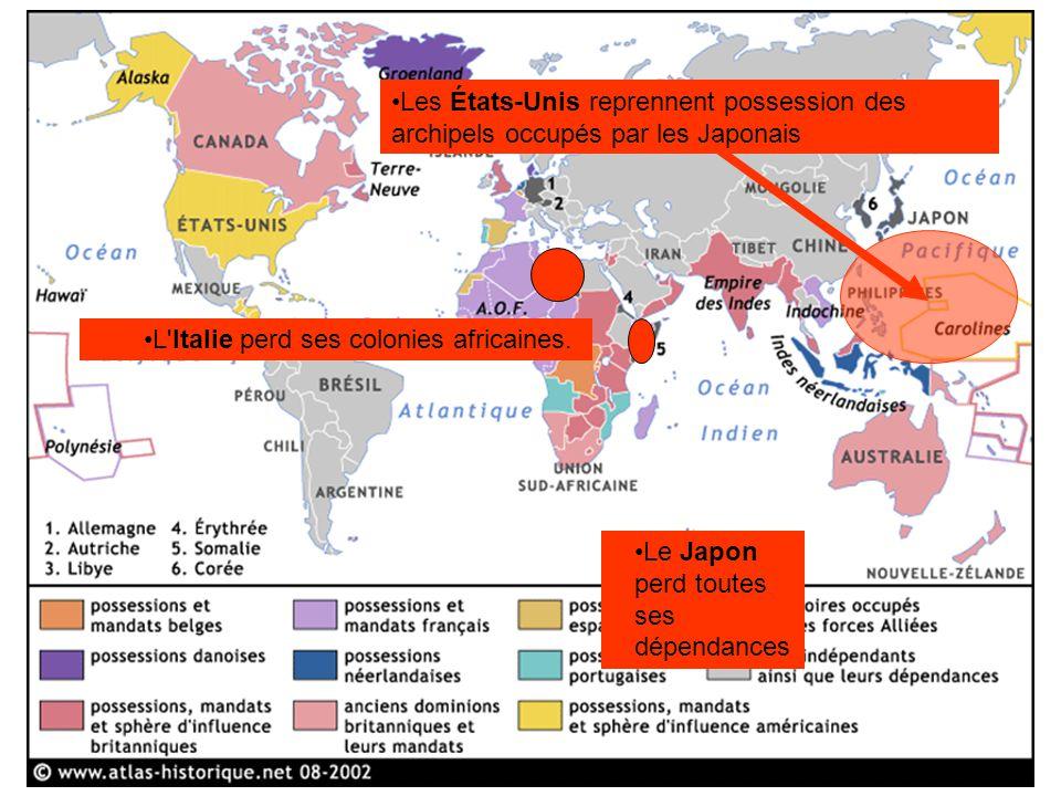 Les États-Unis reprennent possession des archipels occupés par les Japonais