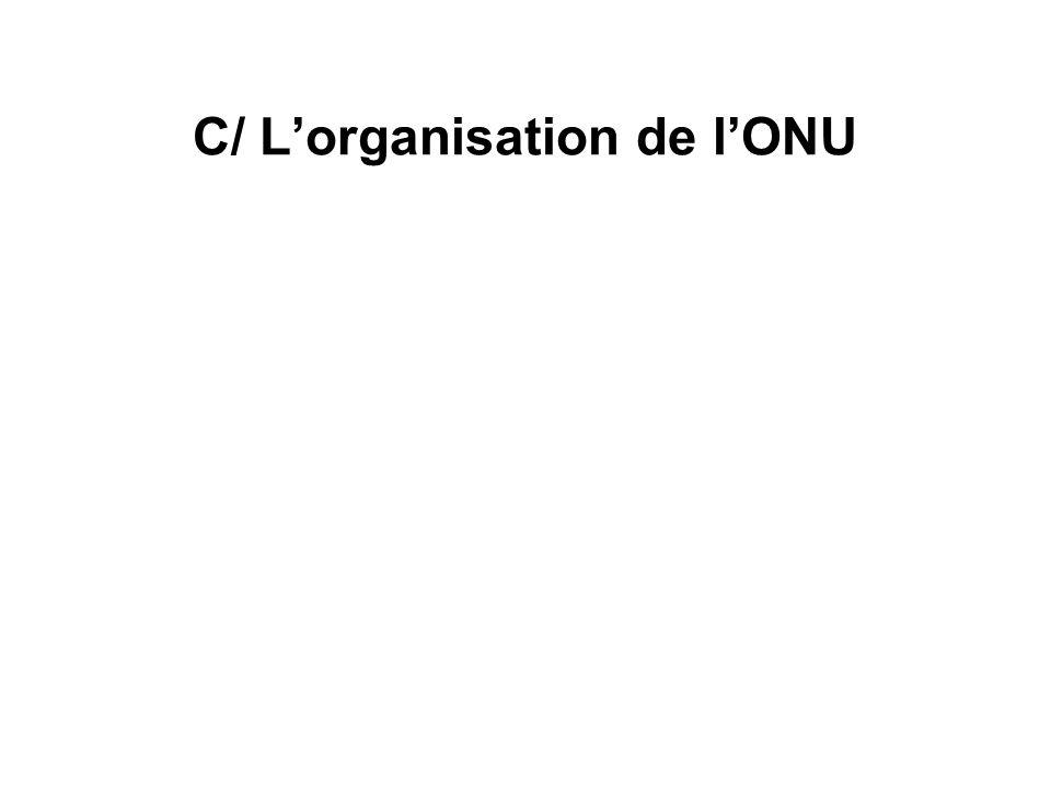 C/ L'organisation de l'ONU