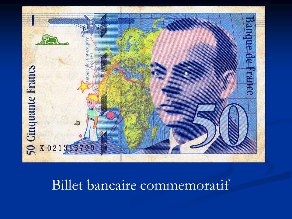 Billet bancaire commemoratif