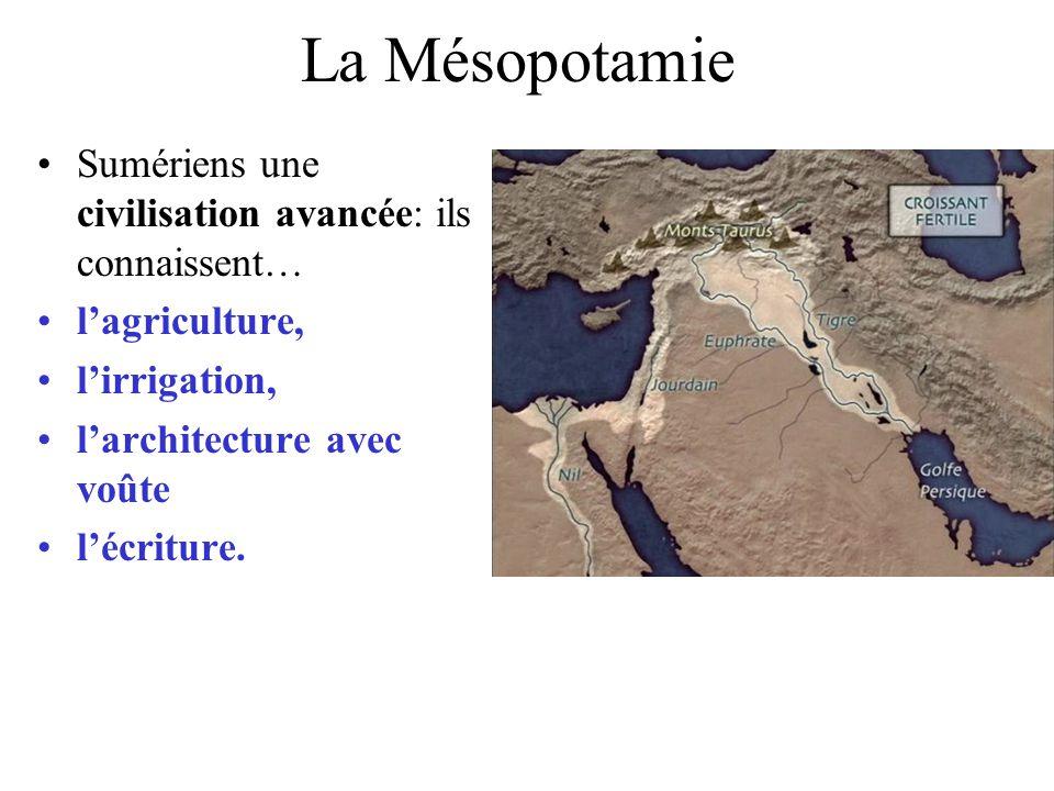 La Mésopotamie Sumériens une civilisation avancée: ils connaissent…