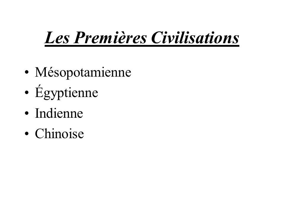 Les Premières Civilisations