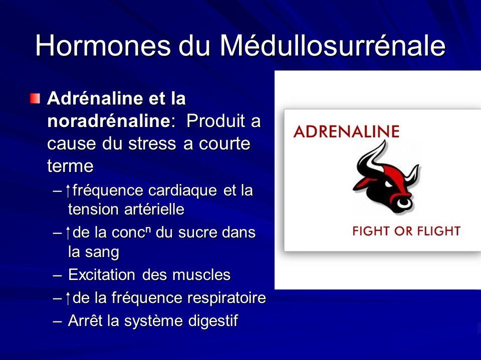 Hormones du Médullosurrénale