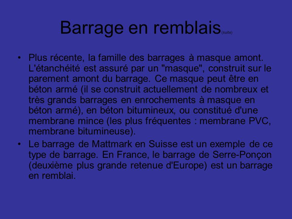 Barrage en remblais(suite)
