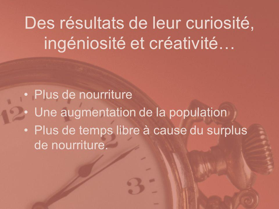 Des résultats de leur curiosité, ingéniosité et créativité…