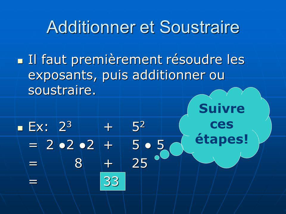 Additionner et Soustraire