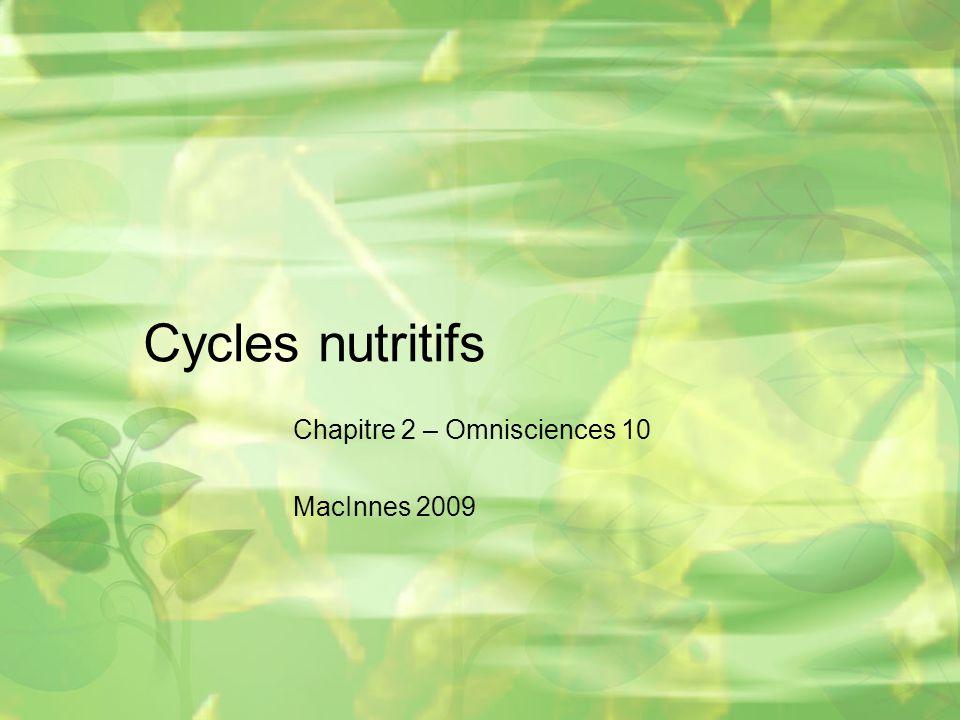 Chapitre 2 – Omnisciences 10 MacInnes 2009