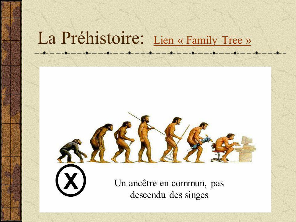 La Préhistoire: Lien « Family Tree »
