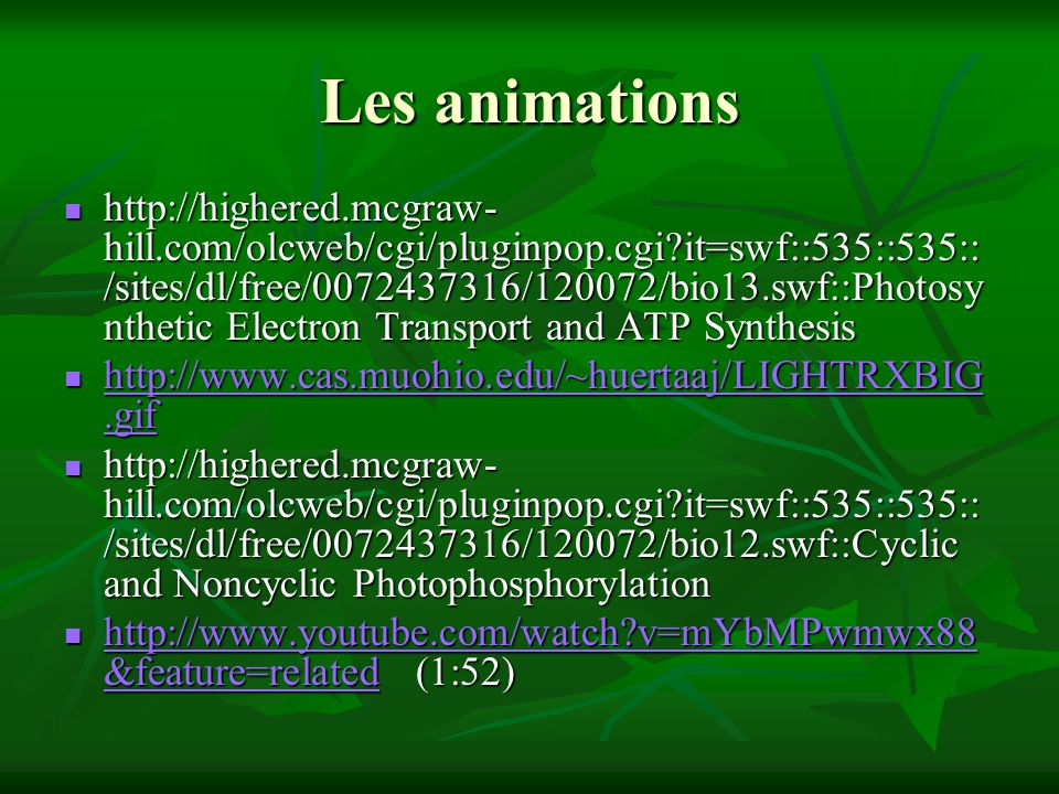 Les animations