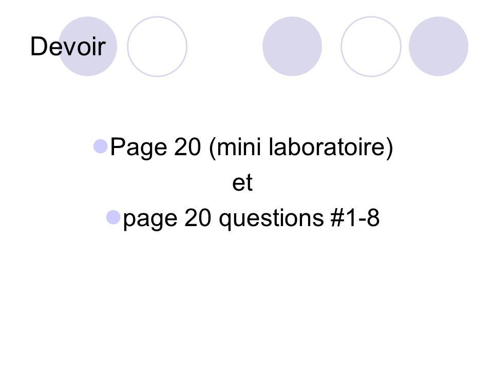 Page 20 (mini laboratoire)