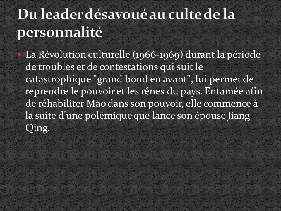 Du leader désavoué au culte de la personnalité
