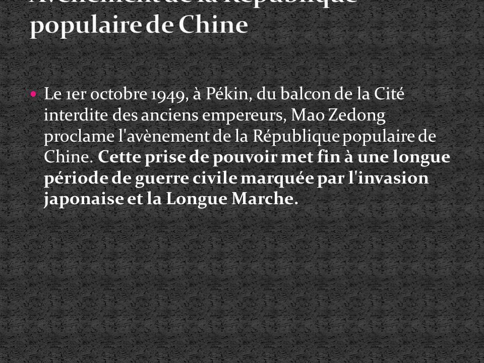 Avènement de la République populaire de Chine