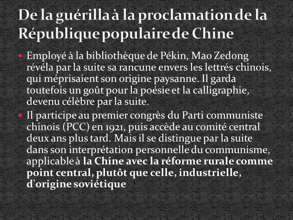 De la guérilla à la proclamation de la République populaire de Chine