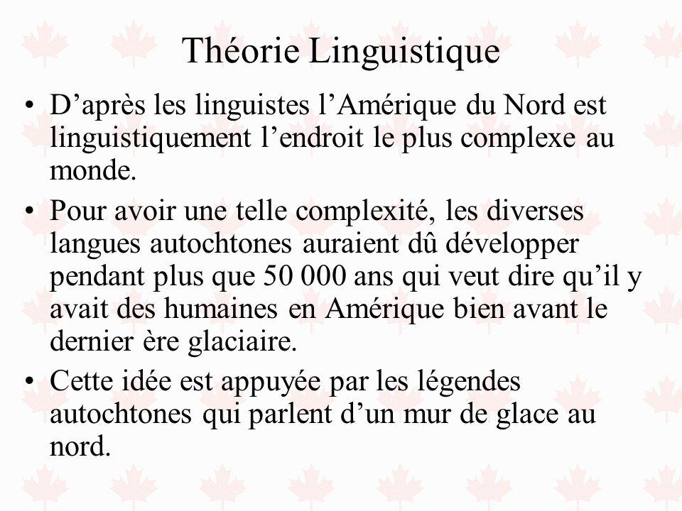 Théorie Linguistique D'après les linguistes l'Amérique du Nord est linguistiquement l'endroit le plus complexe au monde.