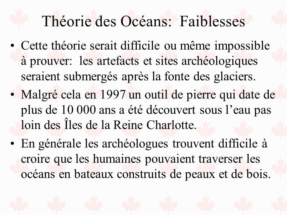 Théorie des Océans: Faiblesses