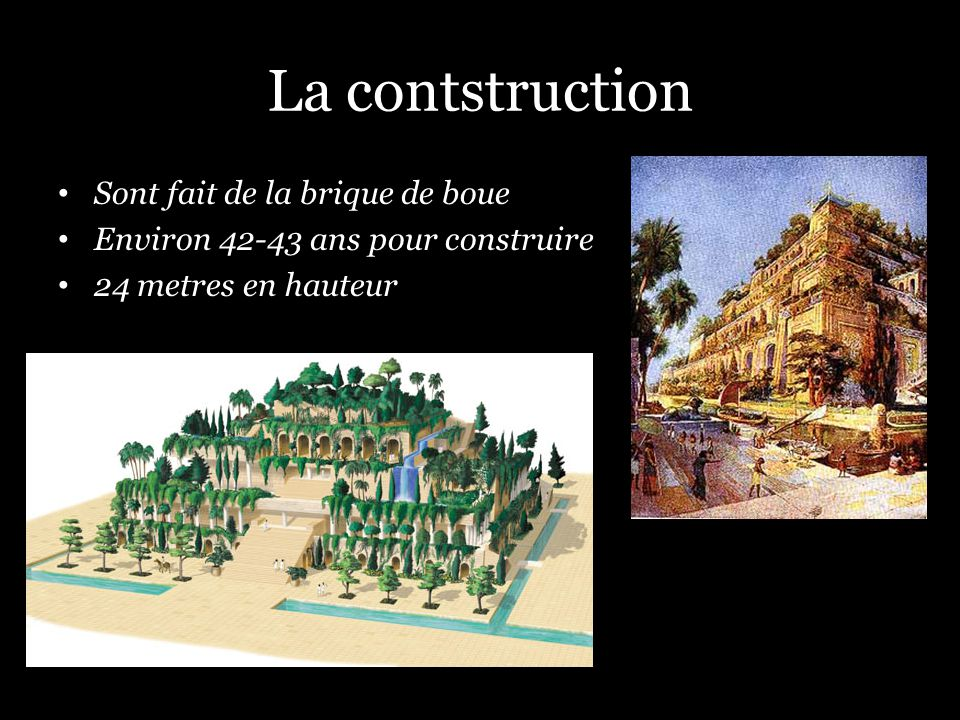 La contstruction Sont fait de la brique de boue